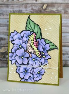 #cre8time for hydrangeas!  #Core'dinations + #Stampendous Blog Hopping with flowers!!