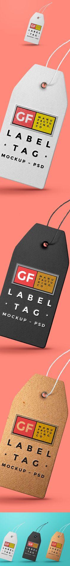 Free Label Tag Mockup PSD (69.8 MB)   Graphics Fuel   #free #photoshop #mockup…