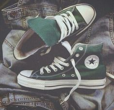 buy popular 97696 d2462 All Star, Olive Green Converse, Green Converse High Tops, Colored Converse,  Converse
