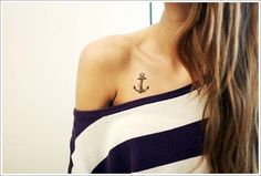 Anchor Tattoos with Meaning for Guys and Girls with names for on wrist, foot or thigh, and cute small flower navy anchor tattoos for women. Bone Tattoos, Symbol Tattoos, Tatoos, Piercings, Piercing Tattoo, I Tattoo, Small Tattoo, Tattoo Arrow, Collar Bone Tattoo Small