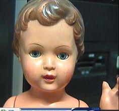 Puppe-Schildkroet-29-cm-Celluloid-50-er-Jahre