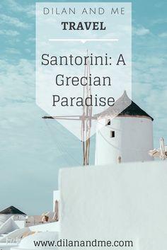 Santorini: A Holiday to Grecian Paradise - Dilan and Me Santorini Wedding, Great Love, Travel Abroad, Places To Eat, Kamari Santorini, Destination Wedding, Paradise, Dream Wedding, Island