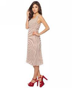 Pleated Polka Dot Dress  $27.80