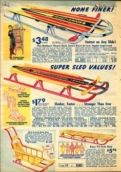 Sears Sleds Advertisement (1937).