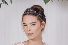 Bohemian crystal wedding browband hairvine - Leander