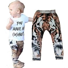 Tigers Panda Unisex Hipster Toddler Leggings!Size 12-24 months 2t  TeePee