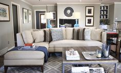 i have this same couch - all i need are the rug, coffee table, and room paint color - i love it... Senora Gray-Benjamin Moore