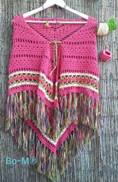 Feito à mão em crochet  fio 50% algodão & 50% acrílico  68