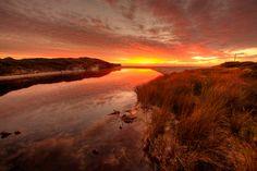 A gorgeous sunrise just outside of St Helens, Tasmania, Australia