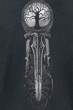 Fenrir Tattoo, Norse Tattoo, Celtic Tattoos, Wolf Tattoos, Viking Tattoos, Body Art Tattoos, New Tattoos, Tattoos For Guys, Warrior Tattoos