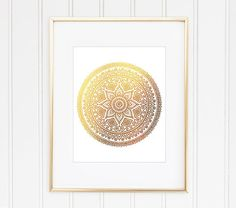 Gold Mandala Print Mandala Art Mandala Wall by MiaoMiaoDesign