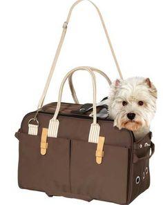 Karlie Flamingo 31414 - Tragetasche - 37 x 15 x 27 cm, braun - Dog Carrier Purse, Designer Dog Carriers, Dog Accesories, Nylons, Dog Bag, Brown Dog, Shopper, Carry On Bag, Beautiful Dogs
