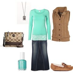 """Teal and Brown"" by a-princess-of-the-risen-king on Polyvore"