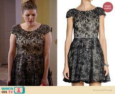 Sadie's black embellished lace cap-sleeve dress on Awkward.  Outfit Details: http://wornontv.net/37494/ #Awkward