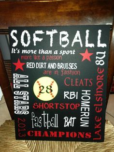 Jaelynns Softball subway art board