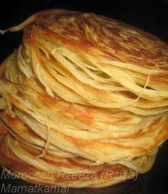 Moroccan Cuisine Marocaine: رزة القاظي-رْزِيزَة /Traditional Handmade Moroccan Rzeeza or Rzate Lquadi (Lkadi or L9adi) / Moroccan Judge's Turban / Turbans du juge-Crêpe Marocaine ou Rziza ou Rzisa!