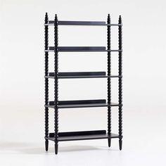 Jenny Lind Black Bookcase   Crate & Kids Condo Furniture, Furniture Styles, Custom Furniture, Cool Bookshelves, Bookshelves Kids, Bookcases, Black Bookcase, Jenny Lind, Forging Metal