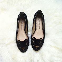 Charlotte Olympia cat flat shoes