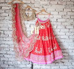 Anushree Reddy Red Lehenga Choli