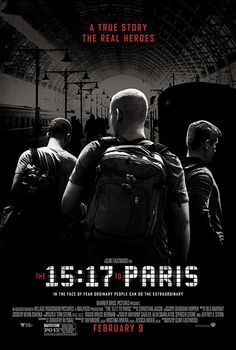The to Paris / produced by Clint Eastwood, Jessica Meier, Tim Moore, Kristina Rivera ; screenplay written by Dorothy Blyskal ; directed by Clint Eastwood. Paris Film, Paris Movie, Clint Eastwood, Hd Movies Online, 2018 Movies, Thalys Train, Village Roadshow Pictures, Peliculas Online Hd, Movie Posters