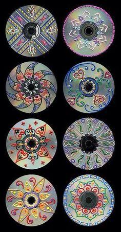 cd art for kids / cd art ` cd art projects ` cd art diy ` cd art aesthetic ` cd art for kids ` cd art painting ` cd artwork cd art ` cd art projects old cds Recycled Cds, Recycled Art Projects, Recycled Crafts, Craft Projects, Teen Art Projects, Unique Art Projects, Recycled Windows, Art Cd, Crafts For Teens