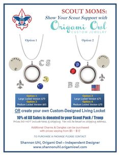 Cub Scout / Boy Scout Fundraiser's Order at: www.tamralynn.origamiowl.com/ Like me at: https://www.facebook.com/O2tamralynn