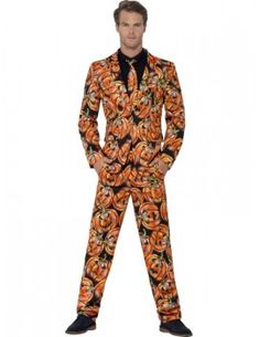 You can buy a Men's Pumpkin Suit for Halloween for costume parties from the Halloween Spot. This orange pumpkin suit comes with a jacket, trousers and tie. Funny Fancy Dress, Adult Fancy Dress, Adult Costumes, Halloween Costumes, Animal Costumes, Pumpkin Suit, Mens Halloween Fancy Dress, Suit With Jacket, Pumpkin Costume