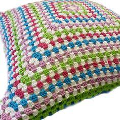 Sara's granny square cushion
