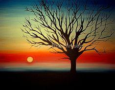 Tree Silhouette by Cherie Roe Dirksen #art