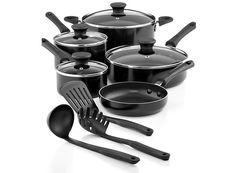 12-Piece Tools of the Trade Nonstick Aluminum Cookware Set  Free Shipping (2 Colors) $29.99 (macys.com)