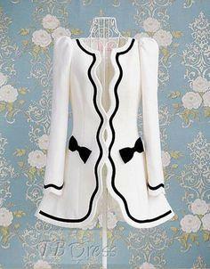 Gorgeous Sweet Slim Bowknot Split Joint Overcoats