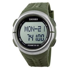 VANKER Popular Running Sports Heart Rate Monitor Pedometer Waterproof LED Digital Watch Green >>> Want to know more, click on the image.
