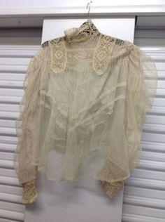 Antique Victorian Edwardian Cream Lace Blouse  | eBay
