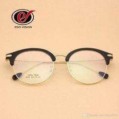 80e261b557db Classic Retro Clear Lens Frames Vintage Eyeglasses Men Women Half Metal  Half Metal Eyewear Free Shippint Wholesale Eyeglass Woman Eyeglasses Man  TR90 Frame ...