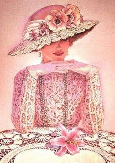 Sue Halstenberg Pretty in pink. Images Vintage, Vintage Pictures, Vintage Photographs, Vintage Beauty, Vintage Fashion, 20s Mode, Afrique Art, Moda Vintage, Pink Hat