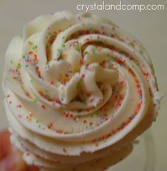 homemade buttercream icing - this is the one I used and I love it! It's creamy and fluffy and oh so delish!!