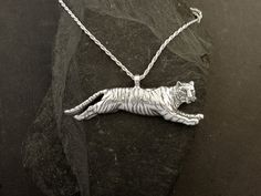 Sterling Silver Tiger Pendant on a Sterling Silver by peteconder