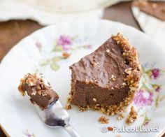 Paleo Chocolate Pie with Nut Crust Recipe | Paleo inspired, real food