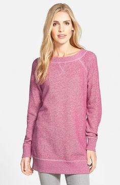 Caslon® Space Dye Tunic Sweatshirt (Regular & Petite) available at #Nordstrom