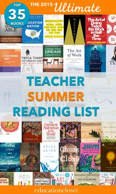 From teacher professional books to fun reads and books for the arts-focused classroom, this is a great list for summer (and beyond)!