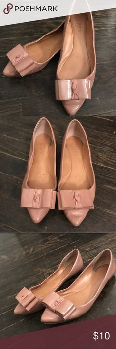 9f4eb9a121aa Jcrew patent leather flats Super cute, super comfortable nude patent  leather ballet flats. Worn
