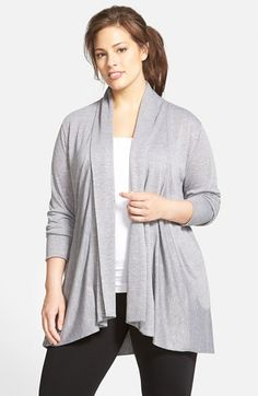Zella+'Namaste'+Open+Front+Cardigan+(Plus+Size)+available+at+#Nordstrom