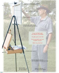 Ultimate Plien Air Palette (for me anyway) - WetCanvas - how to use the easel that we purchased Plein Air Easel, Art Studio Room, Diy Easel, Pochade Box, Watercolor Kit, Workshop Studio, Send In The Clowns, Painting Tools, Workspaces