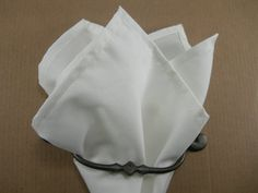 Off white pocket square by LeBoutonVert on Etsy, $11.75