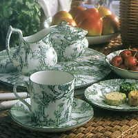 Williamsburg Toile China ~ By Spode & I love our breakfast dishes in a pretty green toile design ...