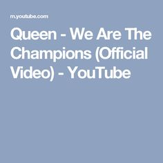 Queen - We Are The Champions (Official Video) - YouTube