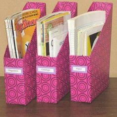 DIY Magazine Bin from Cereal Box