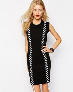 Love Moschino Dress with Lace Crosses at asos.com #dress #moschino #women #covetme #asos