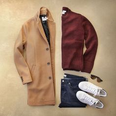 Coated in camel with Topman for @nordstrommen. Obsessed with topcoats this season #Nordstrom #sp Coat: Topman Camel Topcoat Sweater: Topman Textured Knit Crewneck Denim: Topman Stretch Skinny Fit Frames: Topman 53mm Retro Sunglasses by thepacman82