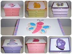 Porta-jóias infantis! Mais opções em: www.facebook.com/apanopatchcolagem ou www.elo7.com.br/apanopatchcolagem